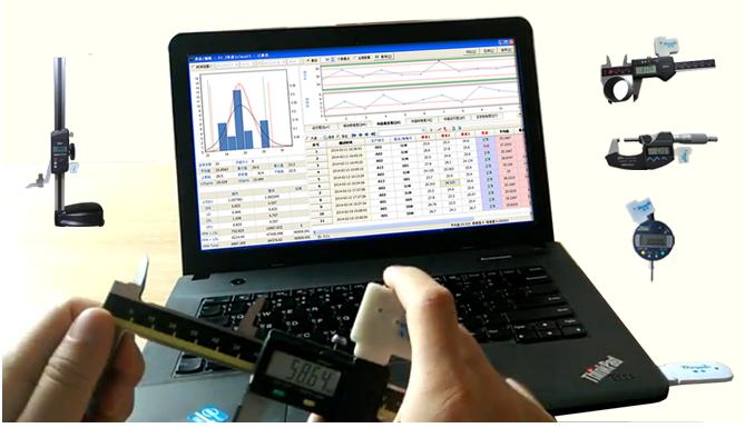 测量数据的无线传输 -无线卡尺